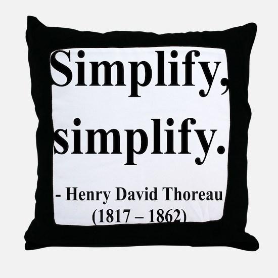 Henry David Thoreau 2 Throw Pillow