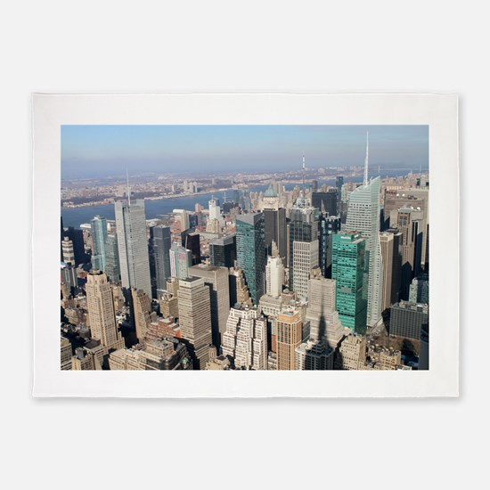 New York City USA Pro Photo 5'x7'Area Rug