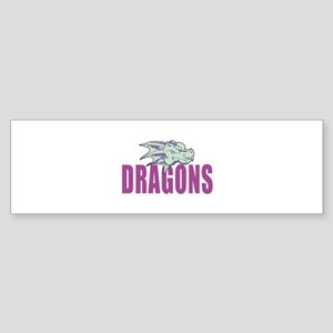 DRAGONS MASCOT Bumper Sticker