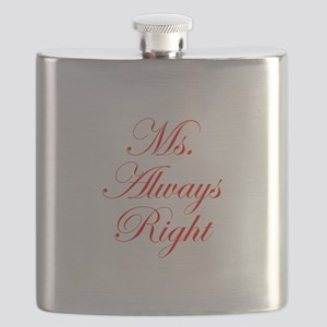 Ms Always Right-Edw red Flask