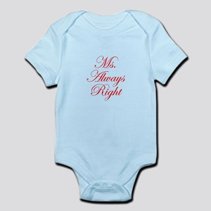 Ms Always Right-Edw red Body Suit