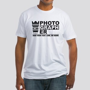 Custom Photographer Fitted T-Shirt