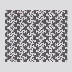 Gray and White Sweet Peppermint Cand Throw Blanket