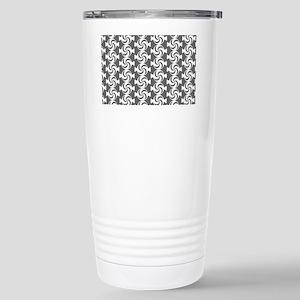 Gray and White Sweet Pe Stainless Steel Travel Mug