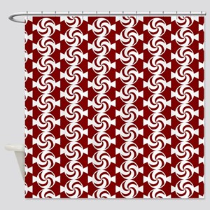 Red and White Sweet Peppermint Cand Shower Curtain