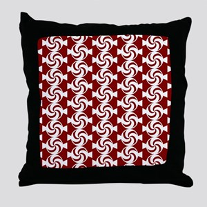 Red and White Sweet Peppermint Candie Throw Pillow