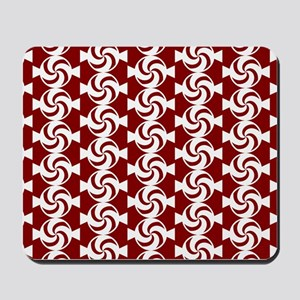 Red and White Sweet Peppermint Candies P Mousepad