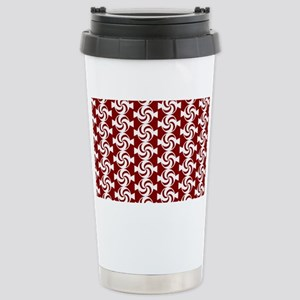 Red and White Sweet Pep Stainless Steel Travel Mug