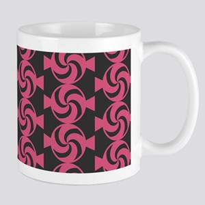 Dark Gray and Pink Sweet Peppermint Can Mug