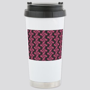 Dark Gray and Pink Swee Stainless Steel Travel Mug