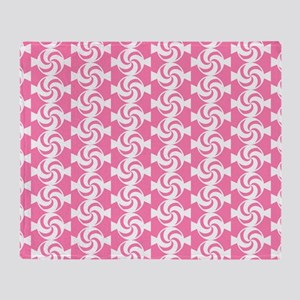Pink and White Sweet Peppermint Cand Throw Blanket