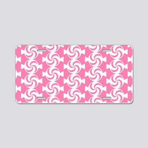 Pink and White Sweet Pepper Aluminum License Plate