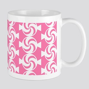 Pink and White Sweet Peppermint Candies Mug