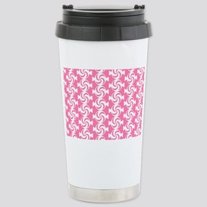 Pink and White Sweet Pe Stainless Steel Travel Mug