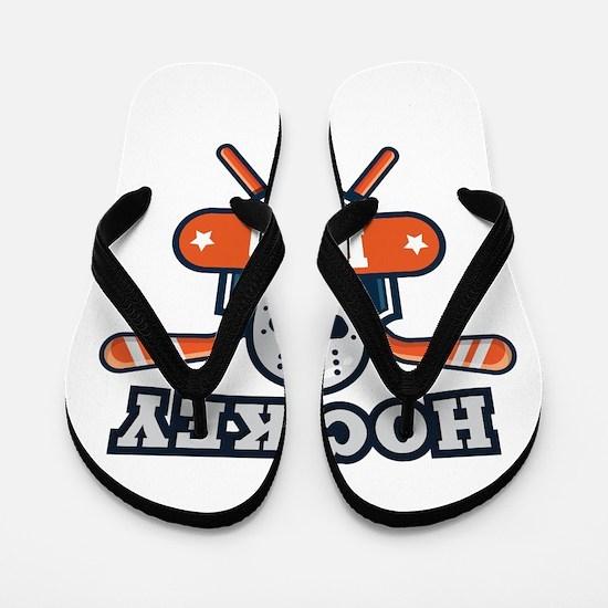 Hockey Dad Flip Flops