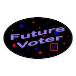 Future Voter Kids Dark Oval Sticker