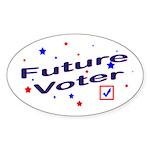 Future Voter Kids Light Oval Sticker