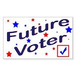 Future Voter Kids Light Rectangle Sticker
