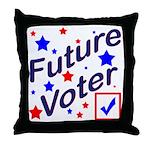Future Voter Kids Light Throw Pillow