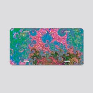 Abstract Art Corals Aluminum License Plate