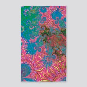 Abstract Art Corals Area Rug