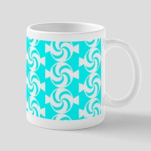 Aqua and White Sweet Peppermint Candies Mug