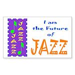Future of Jazz Kids Light Rectangle Sticker