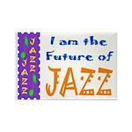 Future of Jazz Kids Light Rectangle Magnet