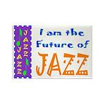 Future of Jazz Kids Light Rectangle Magnet (100 pa