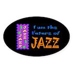 Future of Jazz Kids Dark Oval Sticker