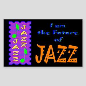 Future of Jazz Kids Dark Rectangle Sticker