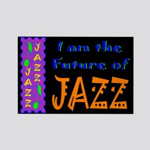 Future of Jazz Kids Dark Rectangle Magnet