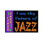 Future of Jazz Kids Dark Rectangle Magnet (100 pac