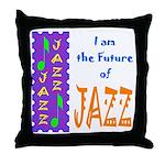 Future of Jazz Kids Light Throw Pillow