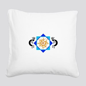 TRIBAL SUN HOPI Square Canvas Pillow