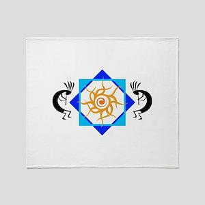 TRIBAL SUN HOPI Throw Blanket
