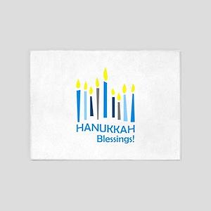 HANUKKAH BLESSINGS 5'x7'Area Rug
