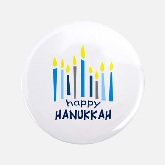 "HAPPY HANUKKAH 3.5"" Button"