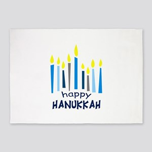 HAPPY HANUKKAH 5'x7'Area Rug