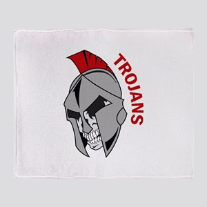 TROJANS Throw Blanket