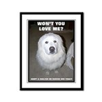 """Wont you love me"" Framed Panel Print"