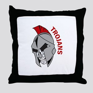 TROJANS Throw Pillow