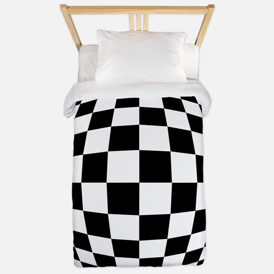 Expanded Optical Check Twin Duvet