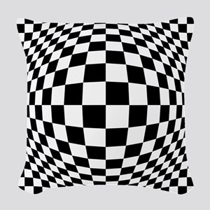 Expanded Optical Check Woven Throw Pillow