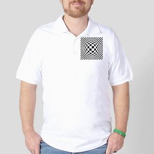 Expanded Optical Check Golf Shirt