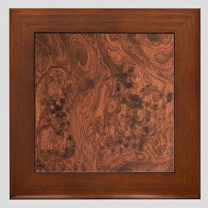 Mahogany burl Framed Tile