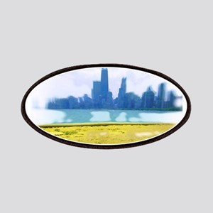Air Brush Painted Chicago Skyline Patches
