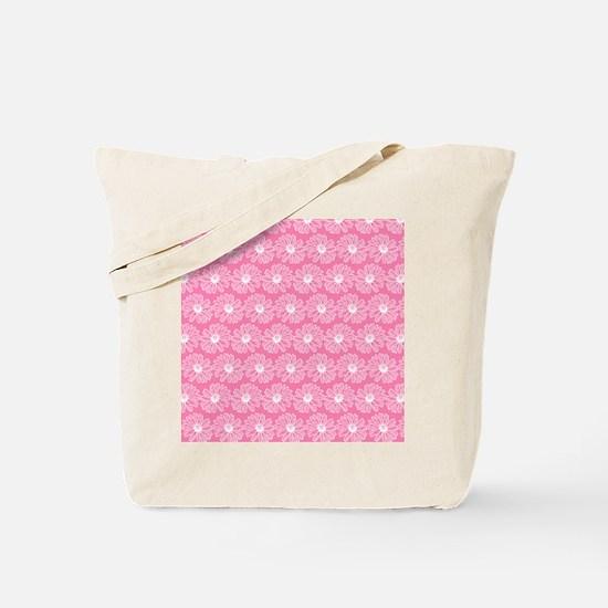 Pretty in Pink Gerbara Daisy Pattern Tote Bag