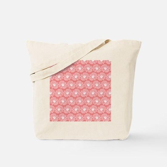 Light Coral Gerbara Daisy Pattern Tote Bag