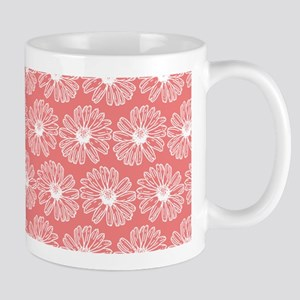 Light Coral Gerbara Daisy Pattern Mug